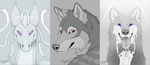 Large portraits by CunningFox