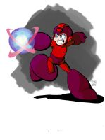 Mega Man doodle alternate: Magnetic Shockwave by MegaRyan104