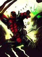 deadpool vs aliens by suspension99
