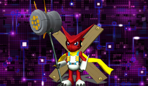 Newcomer Shoutmon Xros Up Puppet by Clonesaiga