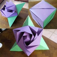 Giant Origami Rose by dsTia