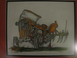 Old Tractor - Framed by ownerfate