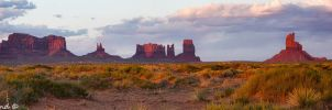 Sundown in Monument Valley by Pistolpete2007