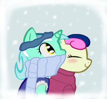 Lyra and Bonbon - Winter wear by tallgrass