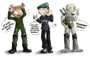 Resistance Chibis by Fiddlezips