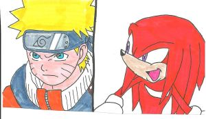 Naruto Knuckles: Which Way? by cmara