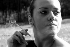 smoking by AllenVard