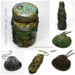 Shipwrecked vases and jewelry by MandarinMoon