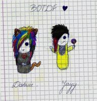 Dahvie and Jayy by youdonegoofed