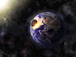 Earth Impact by someonesmall