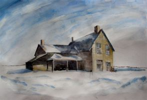 Old winter house by mrTINYman