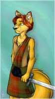 Kashur in a Kilt - Color by spiritwolf77