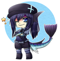 Chibi Commission: Flarechess by XAngelFeatherX