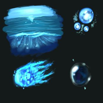 Painting Practice - Water and Magic effects by TheMollyStar