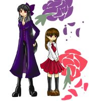Roses of purple and red by SkitzOpheliac