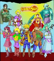 GoldenSun -the whole group by crazydreamerdreamson