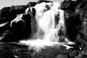 Yet another waterfall b/w close-up by ragnaice