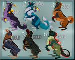 Mutant Canine Adopts (5 open) by NinjaKato