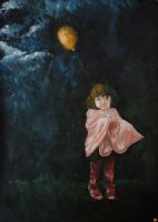 Girl with balloon by Oddel
