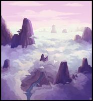 Above the clouds speed painting by Karbo