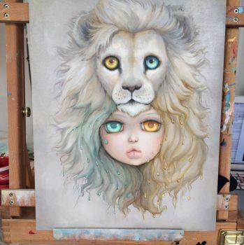 Lion wip by camilladerrico