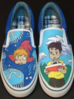 ponyo shoes by CartoonEtiquette