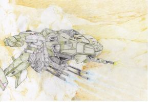 Halo Wars UNSC Hawk Desert by TornadoShaun