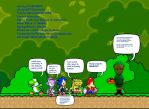 Mario Sonic SpongeBob Blaze Yoshi and BEN drowned by DarkraDx
