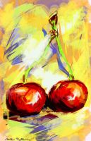 Two cherries by Mishelangello