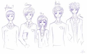 Doodle: The Raven Boys + Blue by hey-its-Skai