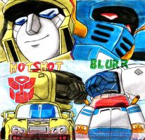 Hotshot and Blurr are friends by Starshot-seeker