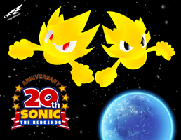 Sonic 20th anniversary by WingedKnight7