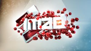 3D abstract text wallpaper IMAD by ImadEdd