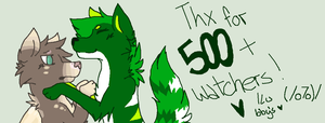 Thx for 500+ watchers by Lalaloraa