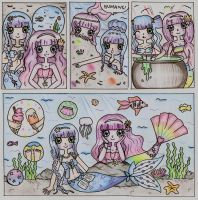 A Day in the Life of Mermaids by Maddie-Pie
