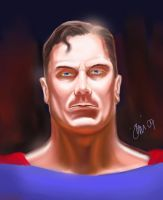 superman paint practice WIP by spidey0318