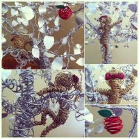 Details of the little wire girl and apple by etodorut