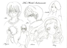 Mortal Instruments Gang BW by Tensai253