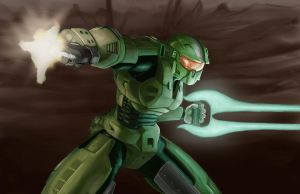 Master Chief by jbarajasART