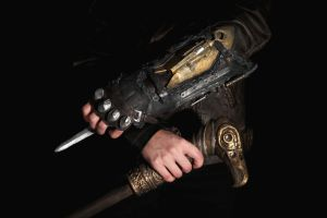Assassin's Creed Syndicate gauntlet and cane by MarikoSusie