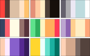 color palettes 3 by RRRAI
