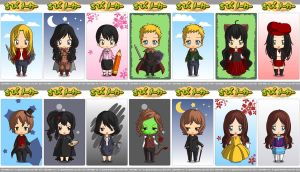 Chibis from Once Upon a Time (1/2) by sorasaku-hermi