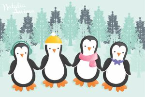 Winter penguins by natalia-factory