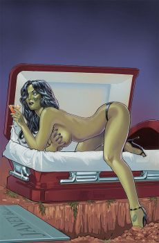 Zombie Tramp 36 Altternate cover E by amherman