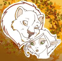 lion n fairy - colored by Paya-Art