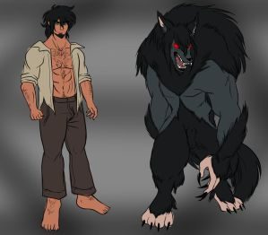 Vran The Wild Werewolf by Dark4Kuran