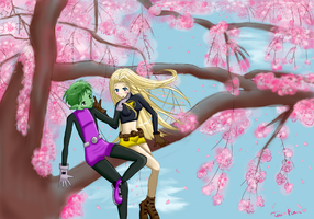 Cherry Blossom Love by PeppermintRain
