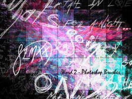 Word 2 - Brushes by qzmxx