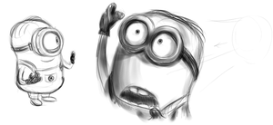 DM Minions copied sketches by AdolfWolfed4Life