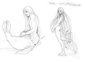 Selkie +Sketches+ by Arai-Hime